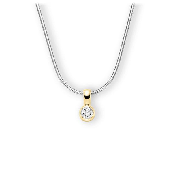 Collier in Weißgold 585 Gelbgold 585 mit 0,5 ct. Brillant tw, vs von 123gold - E-3WK1Y-WG5-1IV4L1Z