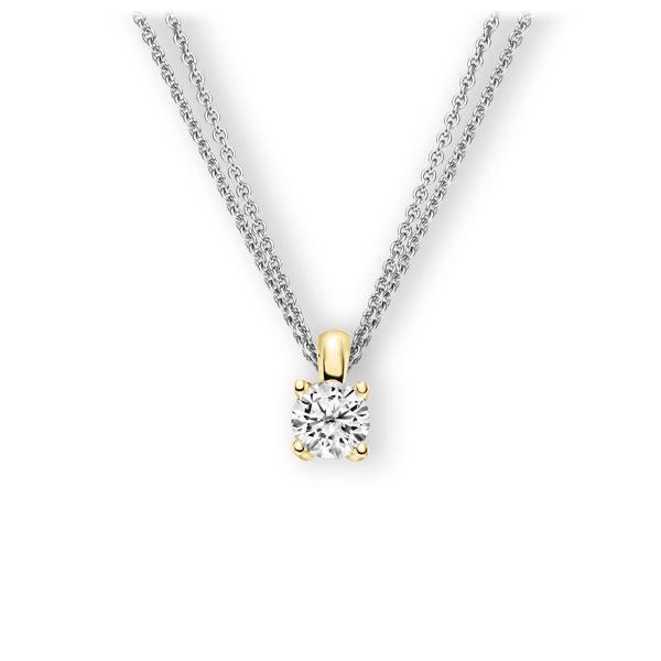 Collier in Weißgold 585 Gelbgold 585 mit 1 ct. Brillant tw, vs von 123gold - E-3WIEH-WG5-1IV6K6Z