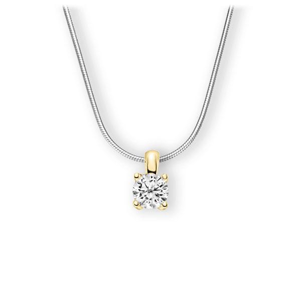 Collier in Weißgold 585 Gelbgold 585 mit 1 ct. Brillant tw, vs von 123gold - E-3WIGI-WG5-1IV6K6Z