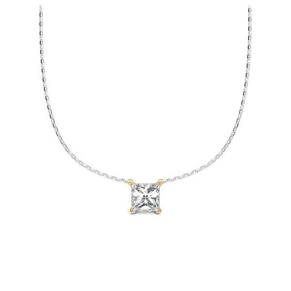 Collier in witgoud 14 kt. geelgoud 14 kt. met in totaal 0,25 ct. Princess-Diamant tw/si van Steinberg - Q-ZLDAH-WG5-1A2TJBZ