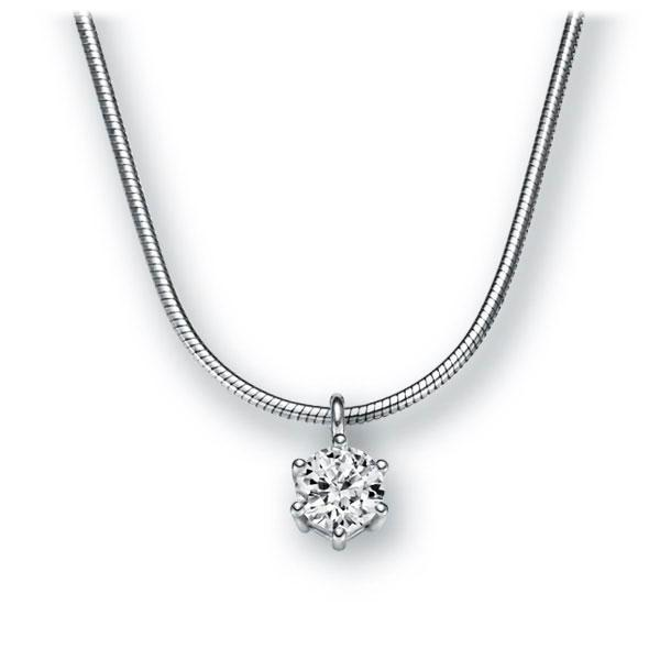 Collier in witgoud 14 kt. met 0,3 ct. Briljant tw,vs van Eternal Touch - E-2U6KB-WW5-1IV54LZ