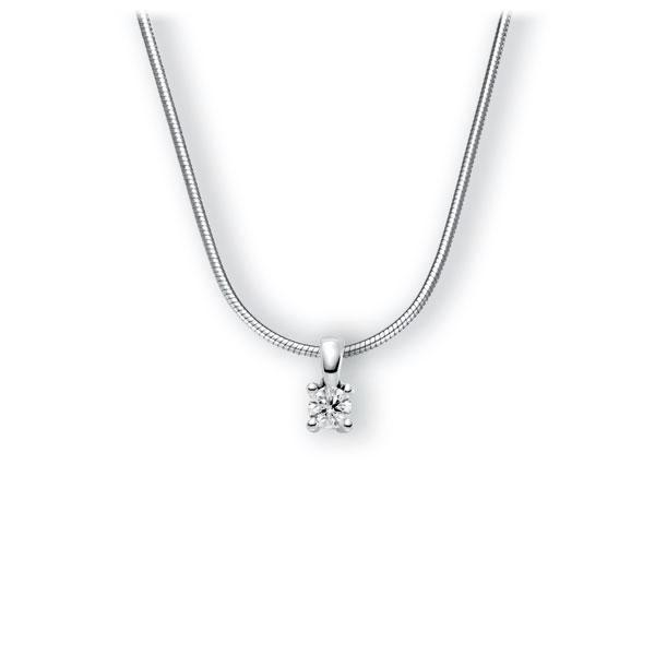 Collier in witgoud 14 kt. met 0,3 ct. Briljant tw,vs van Eternal Touch - E-3WIHV-WW5-1IV6N1Z