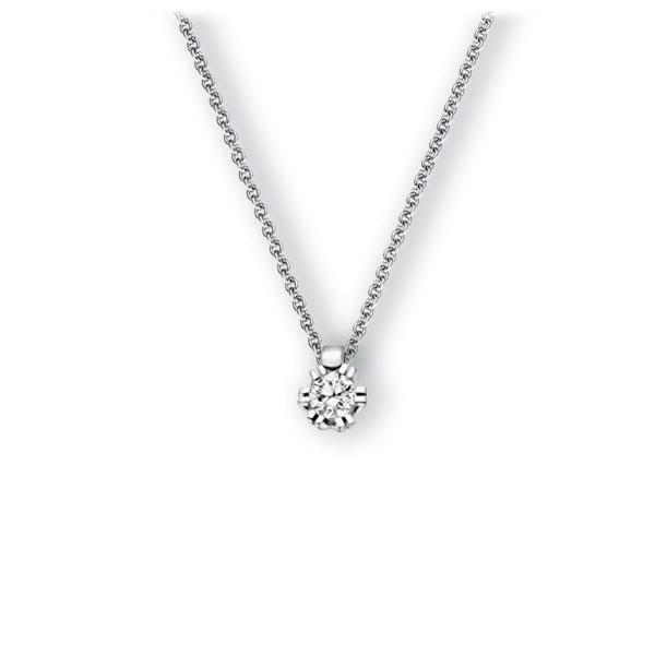 Collier in witgoud 14 kt. met 0,3 ct. Briljant tw,vs van Eternal Touch - E-3WILQ-WW5-1IV54LZ
