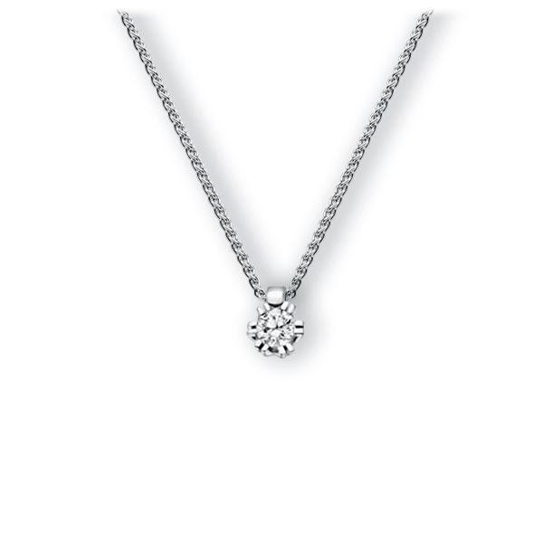 Collier in witgoud 14 kt. met 0,3 ct. Briljant tw,vs van Eternal Touch - E-3WISQ-WW5-1IV54LZ