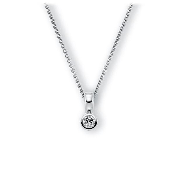 Collier in witgoud 14 kt. met 0,3 ct. Briljant tw,vs van Eternal Touch - E-3WIUS-WW5-1IV5DGZ