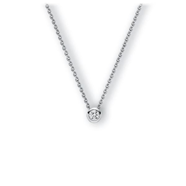 Collier in witgoud 14 kt. met 0,3 ct. Briljant tw,vs van Eternal Touch - E-3WJHD-WW5-1IV5DGZ