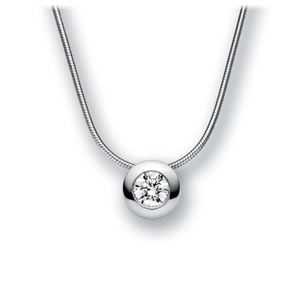 Collier in witgoud 14 kt. met 0,4 ct. Briljant tw,vs van acredo - A-10L48U-WW5-1IV50BZ