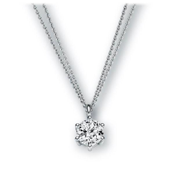 Collier in witgoud 14 kt. met 0,4 ct. Briljant tw,vs van Eternal Touch - E-2U6P9-WW5-1IV561Z