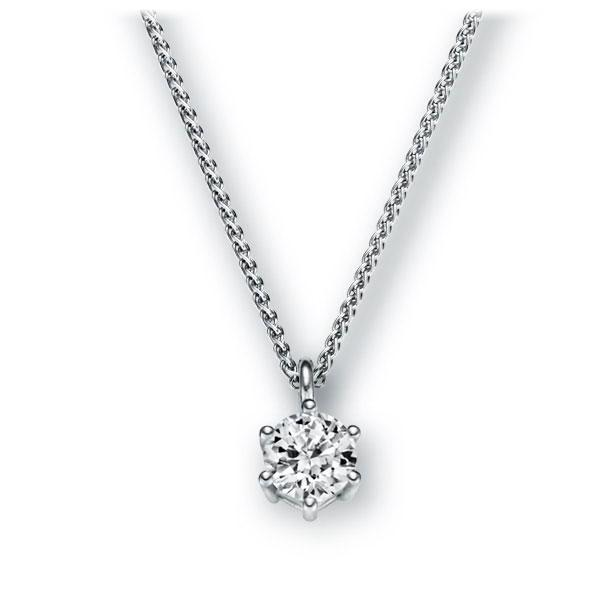 Collier in witgoud 14 kt. met 0,4 ct. Briljant tw,vs van Eternal Touch - E-2U6RT-WW5-1IV561Z