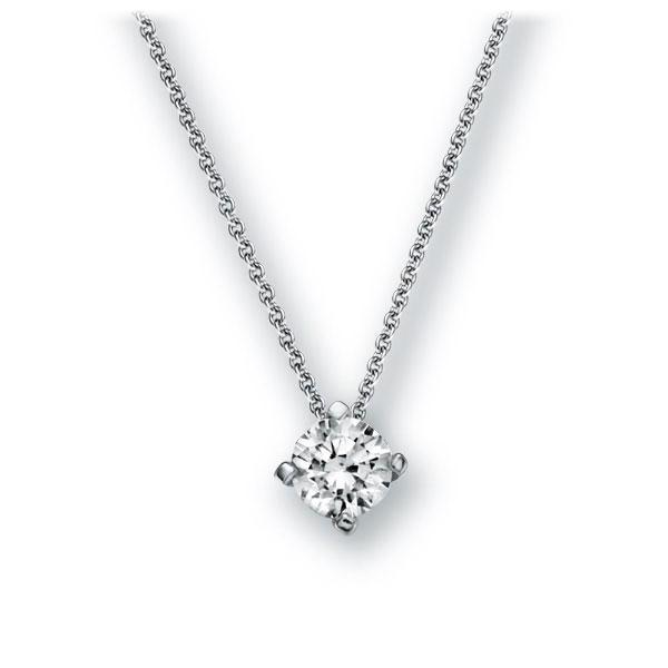 Collier in witgoud 14 kt. met 0,4 ct. Briljant tw,vs van Eternal Touch - E-2U78T-WW5-1IV52LZ