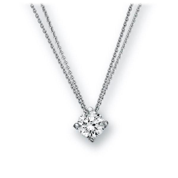 Collier in witgoud 14 kt. met 0,4 ct. Briljant tw,vs van Eternal Touch - E-2U7ER-WW5-1IV52LZ