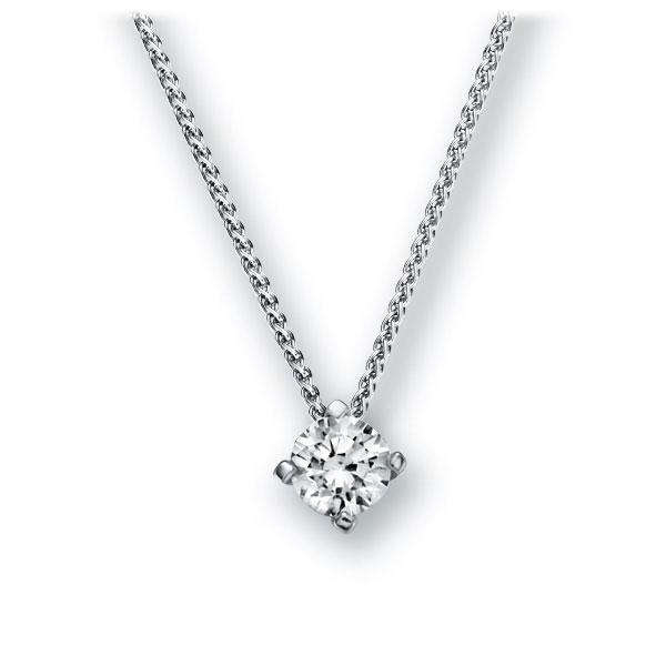 Collier in witgoud 14 kt. met 0,4 ct. Briljant tw,vs van Eternal Touch - E-2U7LM-WW5-1IV52LZ