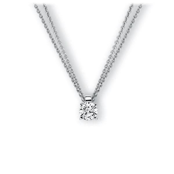 Collier in witgoud 14 kt. met 0,4 ct. Briljant tw,vs van Eternal Touch - E-3WI7F-WW5-1IV52LZ