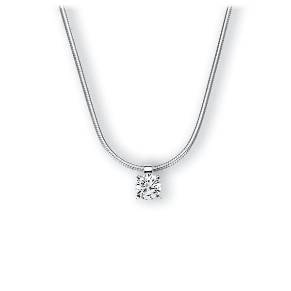 Collier in witgoud 14 kt. met 0,4 ct. Briljant tw,vs van Eternal Touch - E-3WI90-WW5-1IV52LZ