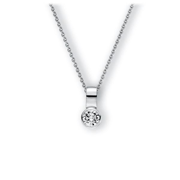 Collier in witgoud 14 kt. met 0,4 ct. Briljant tw,vs van Eternal Touch - E-3WITP-WW5-1IV50BZ
