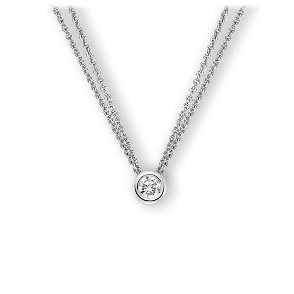 Collier in witgoud 14 kt. met 0,4 ct. Briljant tw,vs van Eternal Touch - E-3WJ2Q-WW5-1IV50BZ