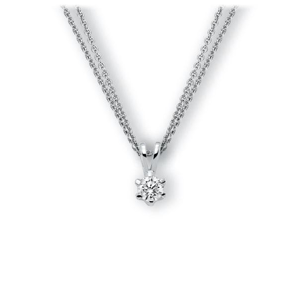 Collier in witgoud 14 kt. met 0,4 ct. Briljant tw,vs van Eternal Touch - E-3WJUL-WW5-1IV561Z