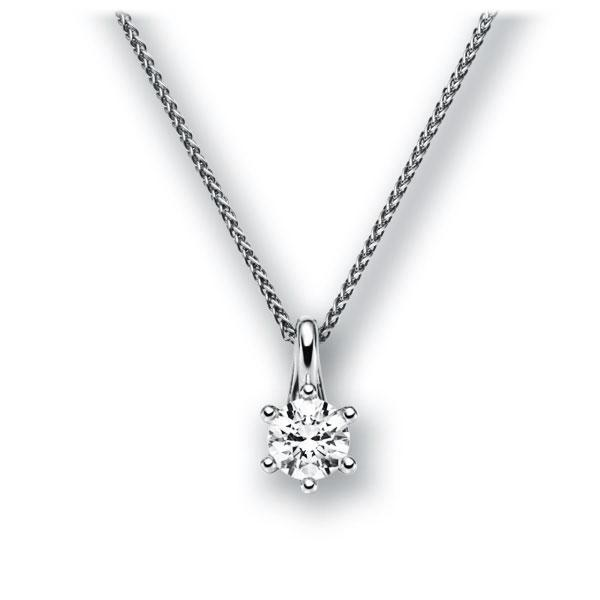 Collier in witgoud 14 kt. met 0,5 ct. Briljant tw,vs van acredo - A-10L94F-WW5-1IV54BZ
