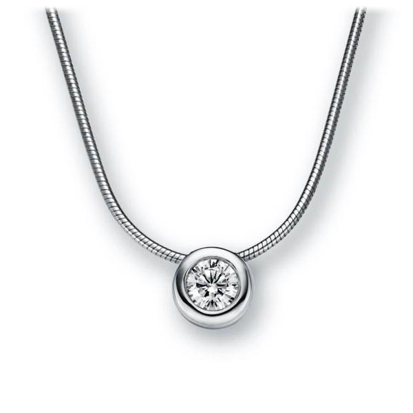 Collier in witgoud 14 kt. met 0,5 ct. Briljant tw,vs van Eternal Touch - E-2TWYU-WW5-1IV4L1Z
