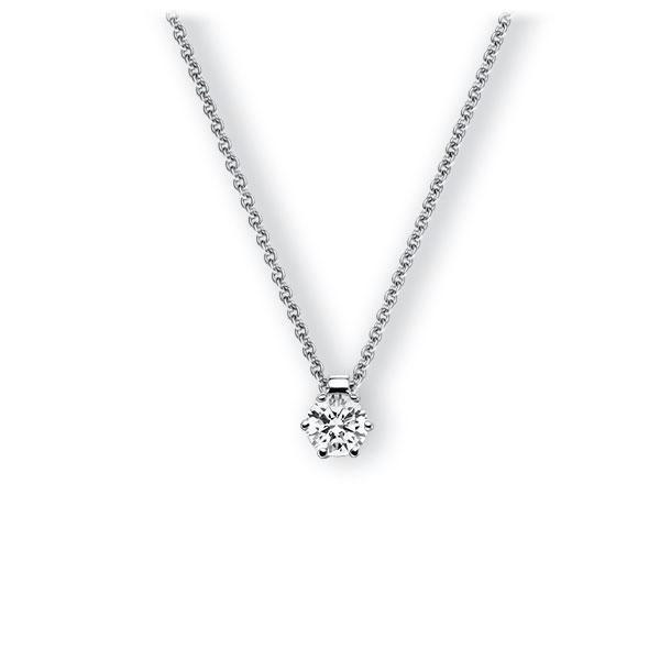 Collier in witgoud 14 kt. met 0,5 ct. Briljant tw,vs van Eternal Touch - E-3VBET-WW5-1IV54BZ