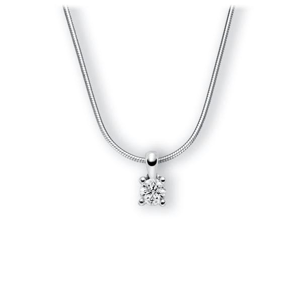 Collier in witgoud 14 kt. met 0,5 ct. Briljant tw,vs van Eternal Touch - E-3WIHX-WW5-1IV4KGZ