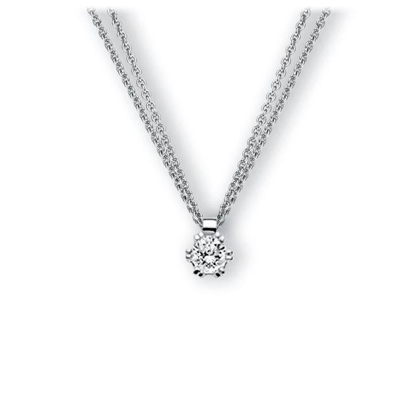 Collier in witgoud 14 kt. met 0,5 ct. Briljant tw,vs van Eternal Touch - E-3WINY-WW5-1IV54BZ