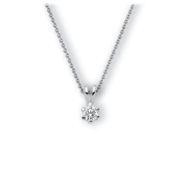 Collier in witgoud 14 kt. met 0,5 ct. Briljant tw,vs van Eternal Touch - E-3WJU0-WW5-1IV54BZ