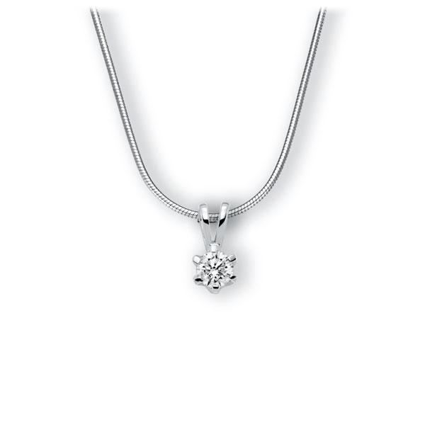 Collier in witgoud 14 kt. met 0,5 ct. Briljant tw,vs van Eternal Touch - E-3WJXN-WW5-1IV54BZ