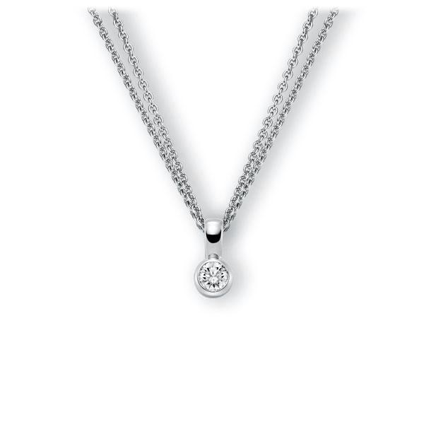 Collier in witgoud 14 kt. met 0,5 ct. Briljant tw,vs van Eternal Touch - E-3WK18-WW5-1IV4L1Z