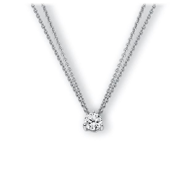 Collier in witgoud 14 kt. met 0,5 ct. Briljant tw,vs van Eternal Touch - E-3WK4L-WW5-1IV4KGZ