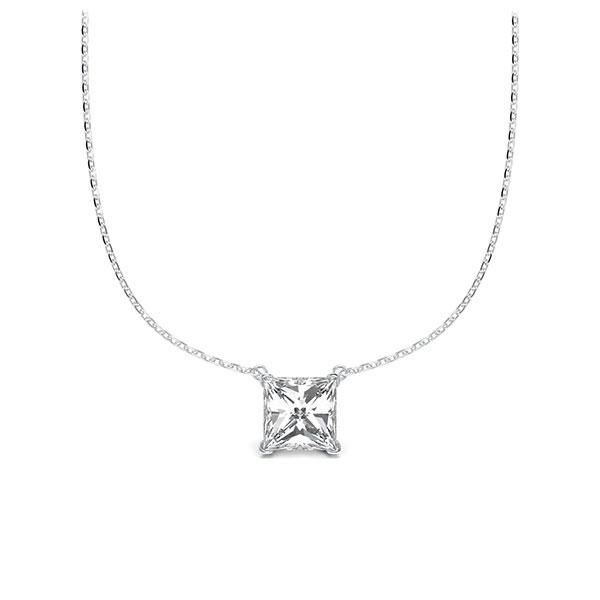 Collier in witgoud 14 kt. met 0,5 ct. Princess-Diamant tw,vs van Steinberg - Q-ZLEZ4-WW5-UZDHGZ