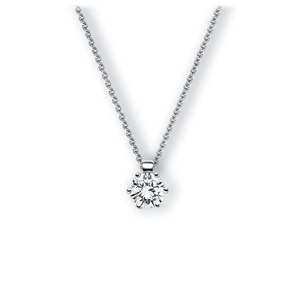Collier in witgoud 14 kt. met 0,7 ct. Briljant tw,vs van Eternal Touch - E-3VBEU-WW5-1IV4HLZ