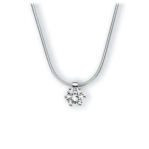 Collier in witgoud 14 kt. met 0,7 ct. Briljant tw,vs van Eternal Touch - E-3VBJF-WW5-1IV4HLZ