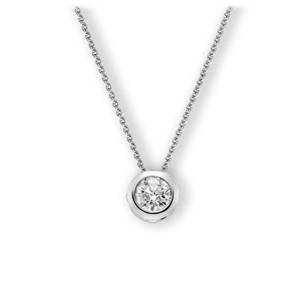 Collier in witgoud 14 kt. met 0,7 ct. Briljant tw,vs van Eternal Touch - E-3WJ18-WW5-1IV4XRZ