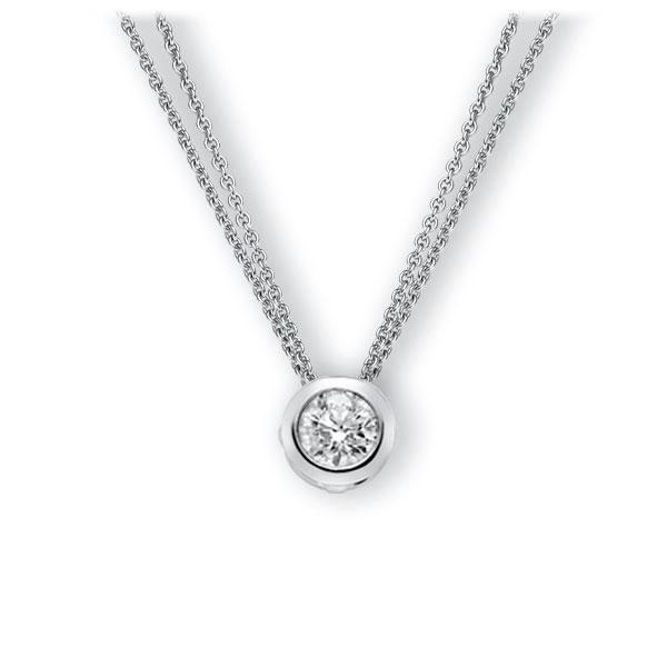 Collier in witgoud 14 kt. met 0,7 ct. Briljant tw,vs van Eternal Touch - E-3WJ2R-WW5-1IV4XRZ