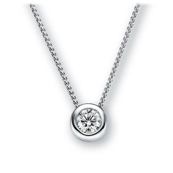 Collier in witgoud 14 kt. met 1 ct. Briljant tw,vs van Eternal Touch - E-2TX48-WW5-1IV64GZ