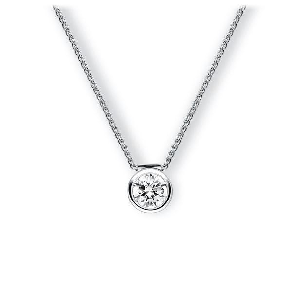 Collier in witgoud 14 kt. met 1 ct. Briljant tw,vs van Eternal Touch - E-3VBCS-WW5-1IV64GZ