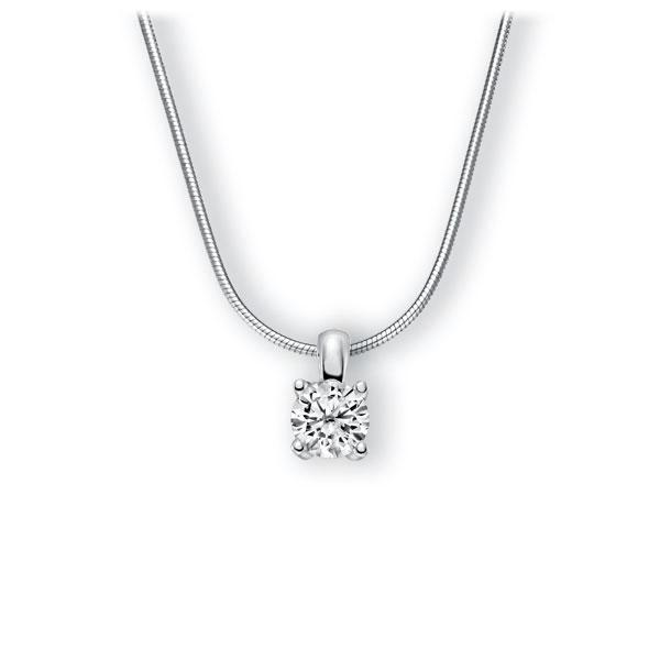 Collier in witgoud 14 kt. met 1 ct. Briljant tw,vs van Eternal Touch - E-3WIHY-WW5-1IV6K6Z