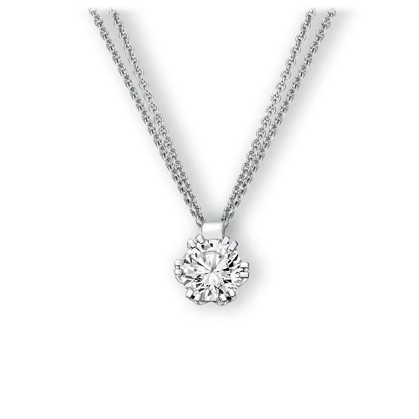 Collier in witgoud 14 kt. met 1 ct. Briljant tw,vs van Eternal Touch - E-3WINZ-WW5-1IV56WZ