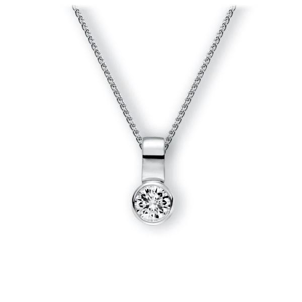 Collier in witgoud 14 kt. met 1 ct. Briljant tw,vs van Eternal Touch - E-3WIZY-WW5-1IV64GZ
