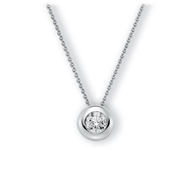 Collier in witgoud 14 kt. met 1 ct. Briljant tw,vs van Eternal Touch - E-3WJ7E-WW5-1IV64GZ
