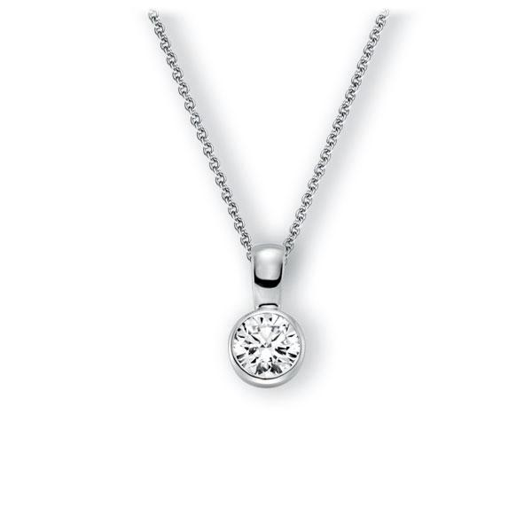 Collier in witgoud 14 kt. met 1 ct. Briljant tw,vs van Eternal Touch - E-3WK0Y-WW5-1IV64GZ