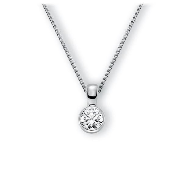 Collier in witgoud 14 kt. met 1 ct. Briljant tw,vs van Eternal Touch - E-3WZU4-WW5-1IV64GZ
