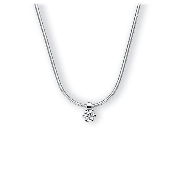 Collier in witgoud 14 kt. met in totaal 0,15 ct. Briljant tw,vs van Eternal Touch - E-3VBJ9-WW5-1Z84ZZ