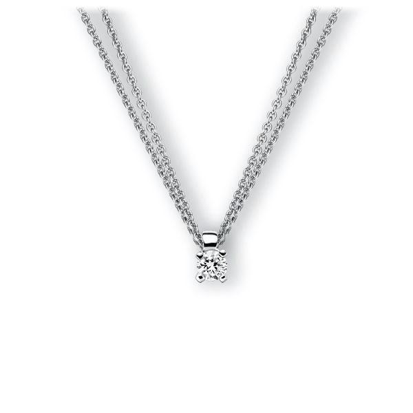 Collier in witgoud 14 kt. met in totaal 0,15 ct. Briljant tw,vs van Eternal Touch - E-3WI7D-WW5-1Z84YZ