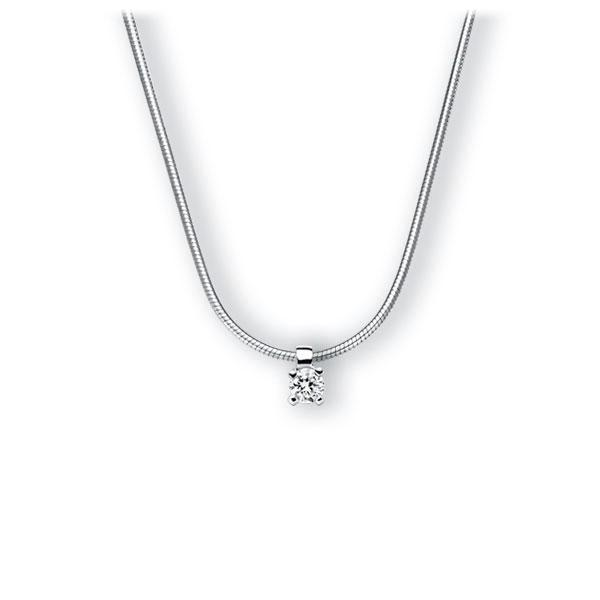Collier in witgoud 14 kt. met in totaal 0,15 ct. Briljant tw,vs van Eternal Touch - E-3WI8Y-WW5-1Z84YZ