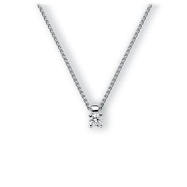 Collier in witgoud 14 kt. met in totaal 0,15 ct. Briljant tw,vs van Eternal Touch - E-3WIAV-WW5-1Z84YZ