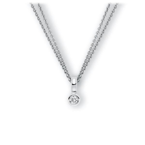 Collier in witgoud 14 kt. met in totaal 0,15 ct. Briljant tw,vs van Eternal Touch - E-3WIVF-WW5-1Z850Z