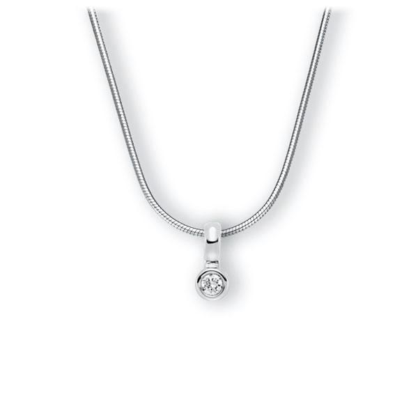 Collier in witgoud 14 kt. met in totaal 0,15 ct. Briljant tw,vs van Eternal Touch - E-3WIX3-WW5-1Z850Z