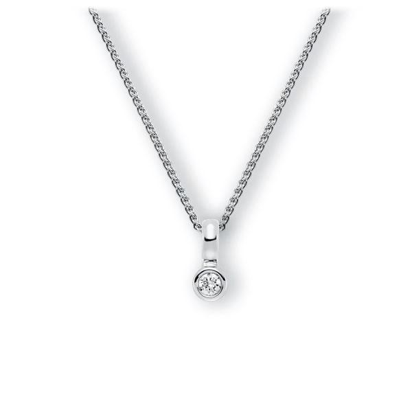 Collier in witgoud 14 kt. met in totaal 0,15 ct. Briljant tw,vs van Eternal Touch - E-3WIYT-WW5-1Z850Z